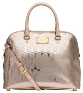 Michael Kors Cindy Mk Gold Satchel in pale gold