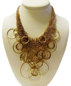 16 Inch Circle Bib Necklace with Extender