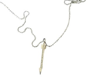 Michael Kors Michael Kors Silver Arrow Adjustable Necklace Crystals Pendant