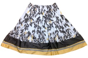 NIC+ZOE Skirt Beige, Brown, Yellow