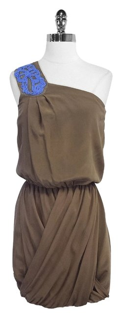 Preload https://item5.tradesy.com/images/tibi-taupe-silk-beaded-one-shoulder-mid-length-short-casual-dress-size-4-s-5300014-0-0.jpg?width=400&height=650