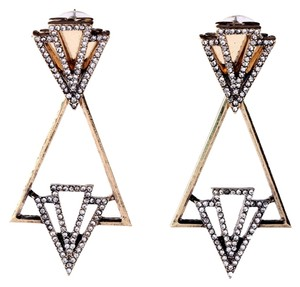 Private Collection Geometric Pave Stone Drop Earrings