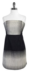 Tibi short dress Sqaure Print Strapless on Tradesy