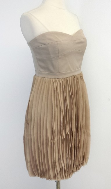BCBGMAXAZRIA short dress Tiered Strapless on Tradesy