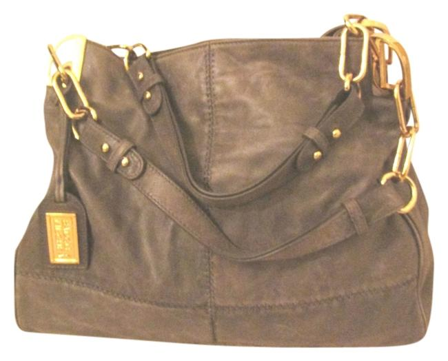 Item - Hand Chain Gray Leather Shoulder Bag