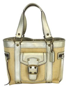 Coach Metallic Leather Small Tote