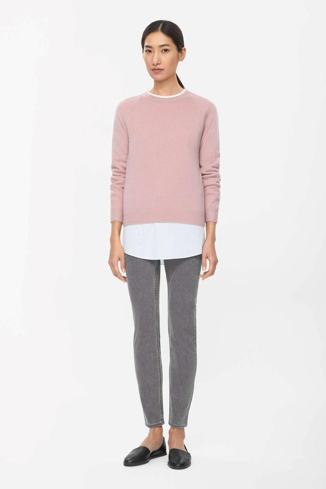 0f5e7b3f6ff4 COS Relaxed Cashmere Jumper Pale Pink Sweater - Tradesy