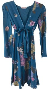 Matthew Williamson short dress Multi Floral Print Silk Long Sleeve on Tradesy