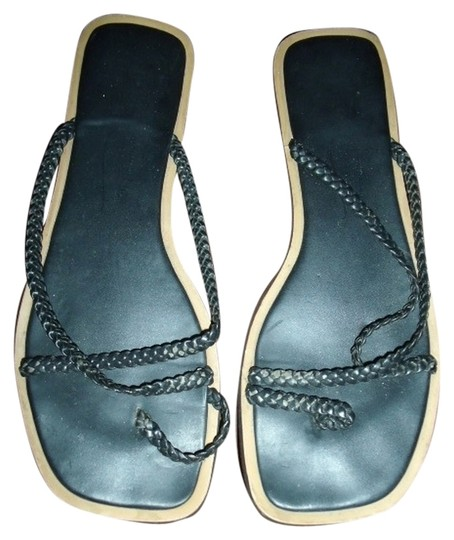 Newport News Braided Black Sandals