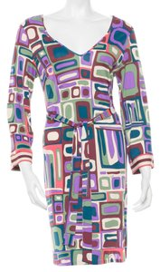 Emilio Pucci Multicolor Shift Dress