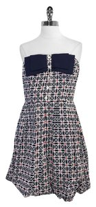 Trina Turk short dress Print Cotton Strapless on Tradesy