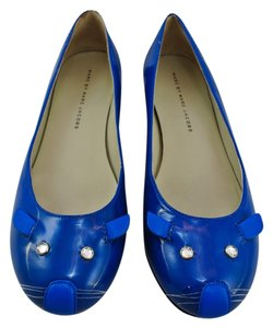 Marc by Marc Jacobs Mouse Patent Leather Blue Flats