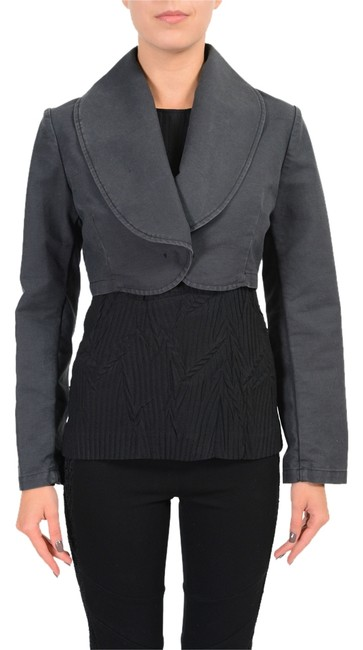 Item - Gray One Button Women's Cropped Basic Jacket Size 8 (M)