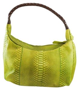 Lime Green Python Hobo Bag