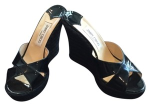 Jimmy Choo Wedge Designer Black Wedges