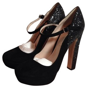 Miu Miu Glitter Black Pumps
