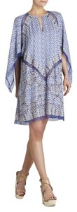 BCBGMAXAZRIA short dress BLUE FLORAL Floral Pattern Butterfly Sleeves Mesh Panels on Tradesy