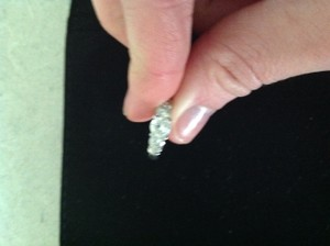 Zales Three Stone Engagement Ring