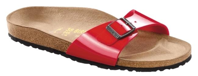 Item - Red Tango Madrid Birko Flor Patent In Sandals Size US 7 Narrow (Aa, N)