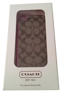 Coach Coach Brand New With Tags/Box Signature I-Phone 4/4S Cell Phone Case NEVER USED Retail On Tags/Box Retail $68