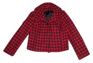Ambition Red and Black houndstooth Blazer