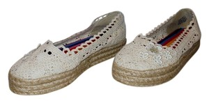 ZIGI NEW YORK Crochet Cream Platforms