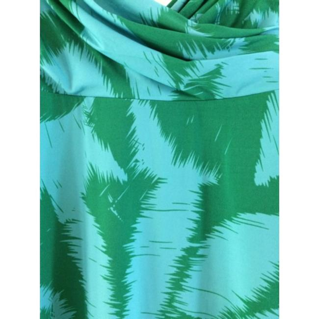 Green and blue Maxi Dress by BCBGMAXAZRIA