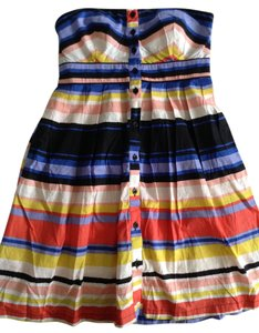 Merona short dress Multi Strapless Sweetheart Stripes Aline on Tradesy