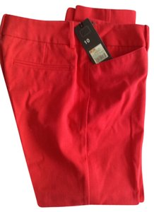 Mossimo Supply Co. Ankle Stretch Capri/Cropped Pants Poppy, red