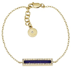 Michael Kors 2 Piece Set-Gold-Tone Lapis Stud Earrings and Lapis Bracelet