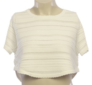 Torn by Ronny Kobo Textured Knit Scalloped T Shirt