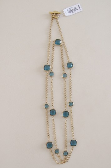 Michael Kors 60% OFF! BRAND NEW Michael Kors Blue Cushion Stone Station Long Necklace