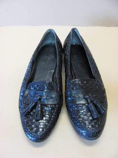 Enzo Angiolini Very Good Condition Leather Size 8n Black Flats