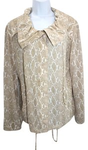 St. John Animal Print Silk Spandex Jacket