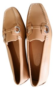 Tod's Driving Loafer Shoe Light Brown Flats