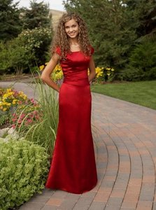 EnVogue Bridal Deep Red B803m Modest Evening Bridesmaid Prom Dress Dress