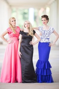 EnVogue Bridal Black B803 Modest Evening Prom Bridesmaid Dress Dress