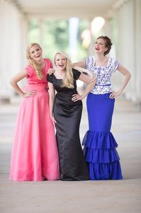 EnVogue Bridal Black B803m Modest Prom Bridesmaid Evening Dress