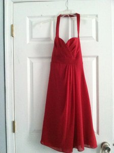 Alfred Angelo Claret Chiffon Formal Bridesmaid/Mob Dress Size 2 (XS)