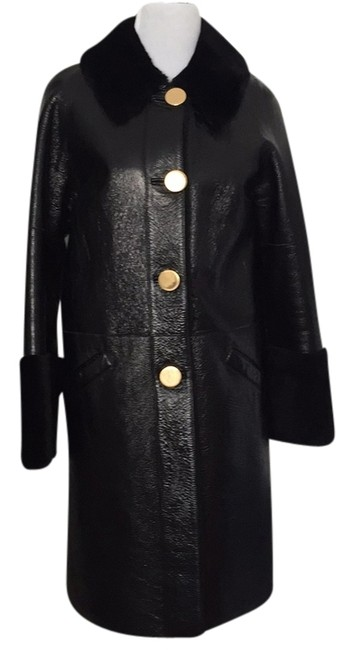 Preload https://item1.tradesy.com/images/michael-kors-black-shearling-and-patent-pea-coat-size-6-s-5304235-0-0.jpg?width=400&height=650