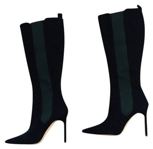 Manolo Blahnik Suede Knee-high Luxury Black Boots