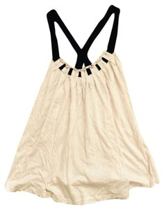 Club Monaco Top Creme and black