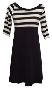 Biondo beverly hills short dress Black and white stripe on Tradesy