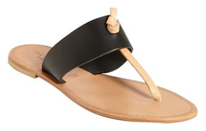Joie Nice Natural Leather Black Sandals