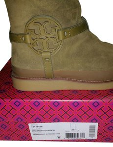 Tory Burch Shearling Otter Green (Olive Greenish) Boots