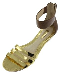 Louise et Cie Gold Brown Sandals