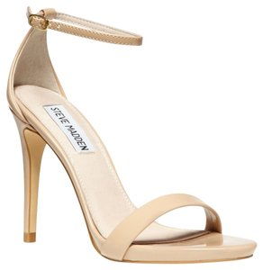 Steve Madden Stecy Stacy Sexy Heel Heels Blush Patent Leather Size 8 Nude Sandals