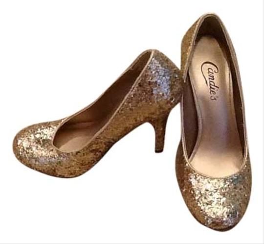 Candie's Gold Pumps