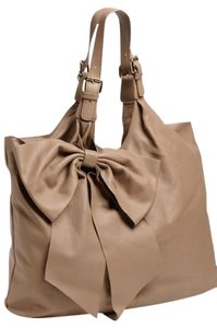 RED Valentino Bowtote Handbags Neutral Tote in caramel