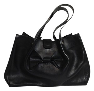RED Valentino Bowtote Handbag Totebag Leather Tote in black